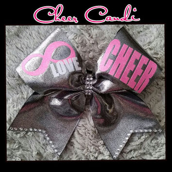 "Love Cheer Infinity 3"" Bow"