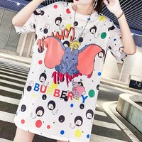 Burberry Fashion New Letter Dumbo Print Leisure Shorts Seeve Dress Women