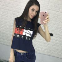English Letters Printed T-Shirt B0014316