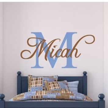 Best Monogram Vinyl Letters Products On Wanelo - Monogram vinyl wall decals for boys