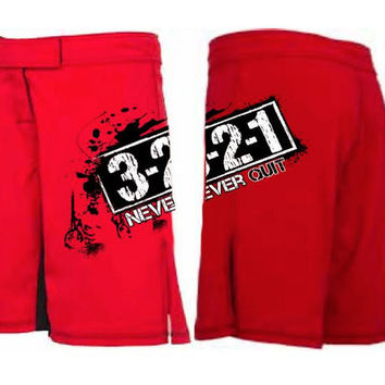 Never Quit men's workout shorts from 321 Apparel