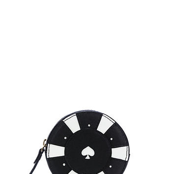 Kate Spade Taft Street Poker Chip Coin Purse Cream/Black ONE