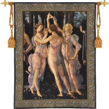 Three Graces by Botticelli Renaissance Tapestry 53H