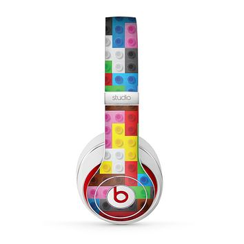 The Neon Colored Building Blocks Skin for the Beats by Dre Studio (2013+ Version) Headphones