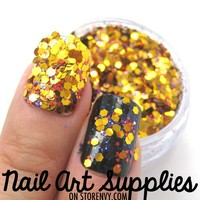 nailartsupplies | Super Festive - Unique Bright Yellow Red and Blue Nail Glitter Mix 3.5 Grams | Online Store Powered by Storenvy