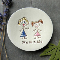 Personalized Mom and Me Ceramic Ring Dish, Mother's Day Gift, Best Gift for Mom, Mom Daughter Pottery, Family Ceramic Ring Holder