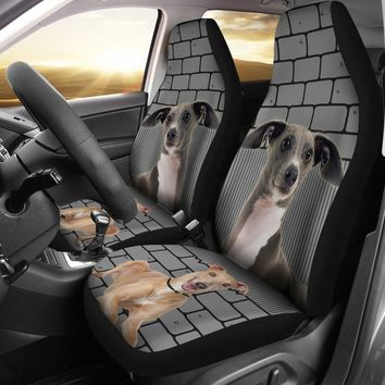 Italian Greyhound Print Car Seat Covers- Free Shipping