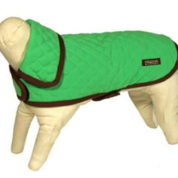 Microfiber Quilted Dog Jacket | Green