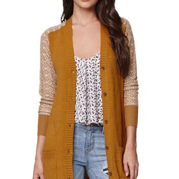 Roxy Cozy Cabin Cardigan - Womens Sweater - Brown