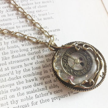 Time Turner Clock Necklace