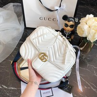 Gucci Double G single shoulder bag inclined bag lady bag