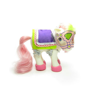 Parade Pizzaz My Little Pony Wear Vintage G1 Shoes, Bridle with Feather, and Saddle Blanket