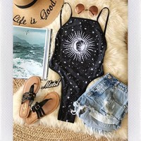 MOTEL ROCKS ZARA ECLIPSE SWIMSUIT- BLK