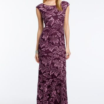 Two-Toned Lace Cap Sleeve Dress