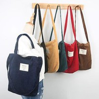 Buy TangTangBags Applique Canvas Tote | YesStyle