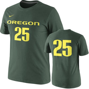 Nike Oregon Ducks Green Basketball Player Number T-Shirt
