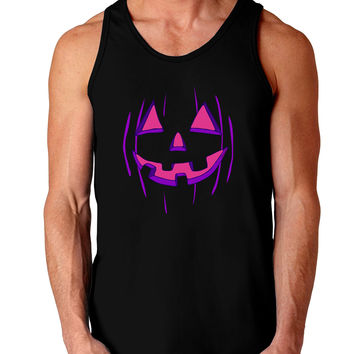 Halloween Glow Smiling Jack O Lantern Dark Loose Tank Top