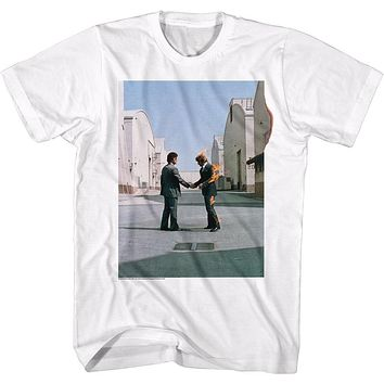 Pink Floyd T-Shirt Wish You Were Here Album Cover White Tee