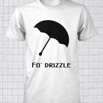 Fo Drizzle Shirt Snoop Dogg Funny Tee Hilarious Rap Music West Coast Umbrella T-Shirt Rain Parasol Small Medium Large Xlarge Unisex Cotton