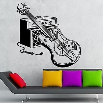 Wall Stickers Vinyl Decal Electric Guitar Music Musical Instrument Rock Unique Gift (ig1861)