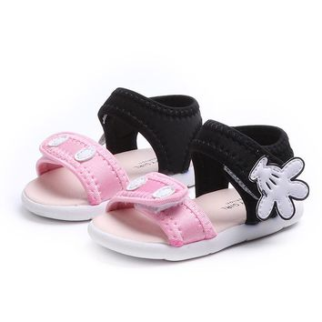 Summer Baby Boys Girls Sandals Shoes Kids Cartoon Soft Toddler Shoes Children Infant Non-Slip Fashion Sandals Beach Shoes