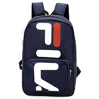 FILA Tide brand backpack handbag Messenger bag lightweight computer bag Blue