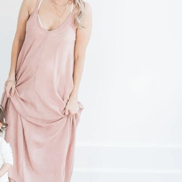 The Mila Maxi Dress - Blush