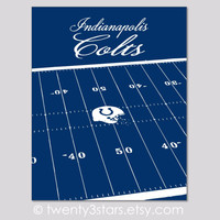 Indianapolis Colts Stadium Wall Art - Choose Any Colors - twenty3stars