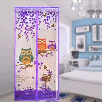 90/100 x 210 CM Curtain Anti Mosquito Magnetic Tulle Shower Curtain Automatic Closing Door Screen Summer Style Mesh Net 4 Color