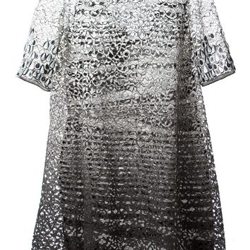 Missoni layered lace and knitted A-line dress