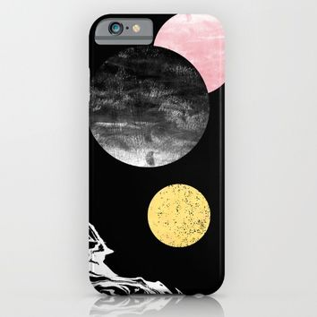 Celeste - space modern minimal abstract painting art urban brooklyn new york los angeles design iPhone & iPod Case by CharlotteWinter