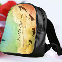 "Disney New Peter Pan Quote for Backpack / Custom Bag / School Bag / Children Bag / Custom School Bag ""NP"""