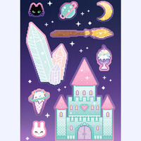 Galactic Castle sticker sheet