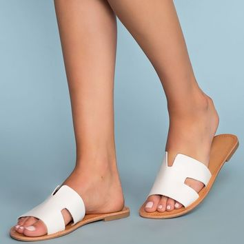 Mira Slip-On Sandals - White