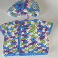 Blueberry PUNCH Baby Kimono Sweater Neutral 0-3 months