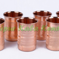 Lot of 6 Pieces Copper Glasses Kitchen Accessories for Good and Natural Health