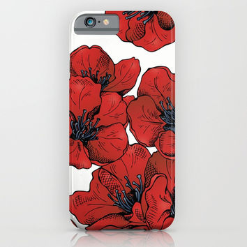Poppies Pattern iPhone & iPod Case by MIKART