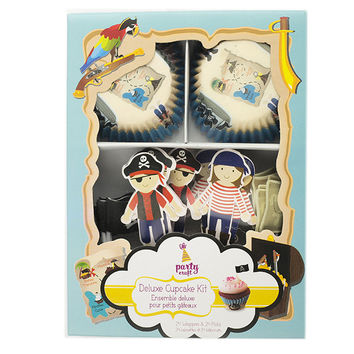 Pirate Cupcake Wrapper and Pick Set, 24 Pack