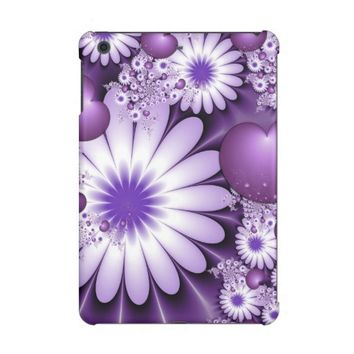 Falling in Love Abstract Flowers & Hearts Fractal iPad Mini Covers
