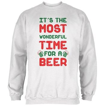 Christmas Most Wonderful Time for a Beer Mens Sweatshirt