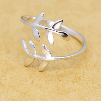 Tree branch 925 sterling silver ring,a perfect gift
