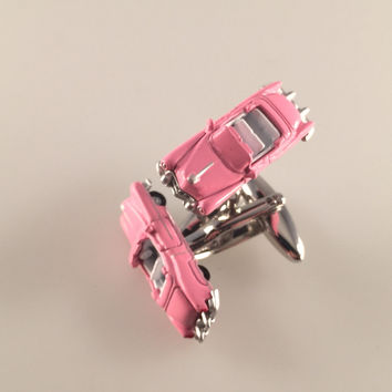 Pink Cadillac Car Cuff Links, Car Cuff Links, Automobile Cuff Links, Men's Cuff Links, Wedding Cuff Links, Father's Day, Graduation Gift