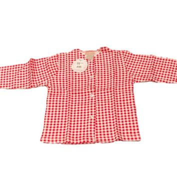Zutano Red Gingham Cotton Baby Jacket
