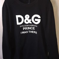DCKKID4 Dolce&Gabbana Fashion Casual Long Sleeve Sport Top Sweater Pullover