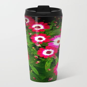 Summertime Daisies Metal Travel Mug by Chris' Landscape Images & Designs