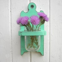Wall vase wood sconce holder shabby chic decor by Twigs2Whirligigs