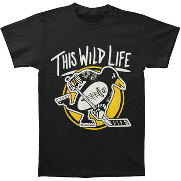 This Wild Life Men's  Penguin T-shirt Black Rockabilia