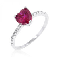 Ruby Red Heart Ring (size: 09)