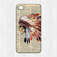 Indian Skull iPhone 4 Case,Colorful Skull Head iPhone 4 4g 4s Hard Plastic Rubber Case,cover skin case for iphone 4/4g/4s cases,More