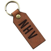 NHV New Haven Leather Keychain